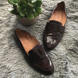 Madewell patent loafer shoes sz 8.5